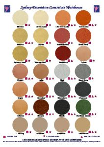 Concrete Colours & Paint Charts