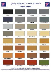 Coloured Sealer